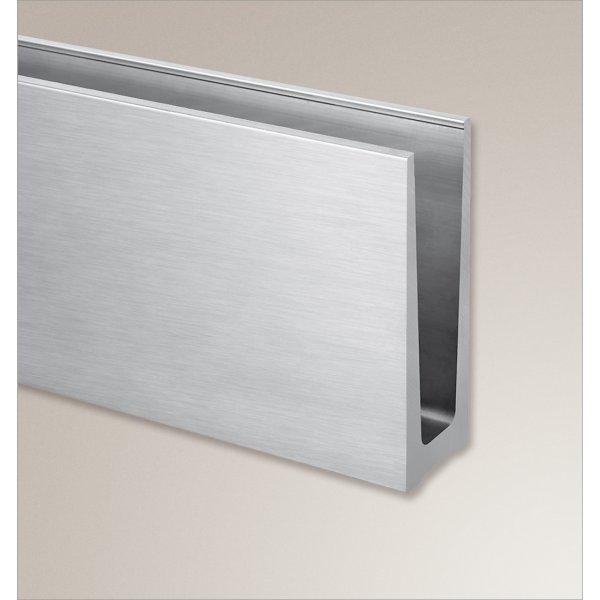 ganzglasgel nder alu bodenprofil bodenmontage aluminium. Black Bedroom Furniture Sets. Home Design Ideas