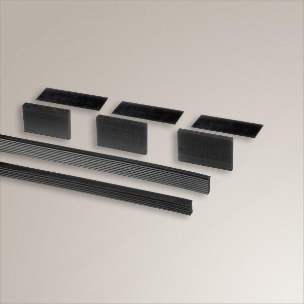 ganzglasgel nder bodenprofil gummi montagesatz f r glaspl. Black Bedroom Furniture Sets. Home Design Ideas